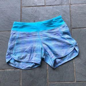 Ivivva Blue Patterned Shorts